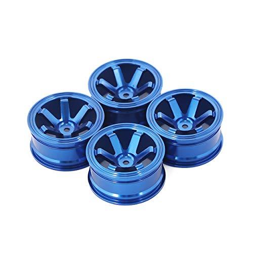AKDSteel 4 llantas de metal de 1,9 pulgadas Bead-Lock para 1/10 RC Rock Crawler Axial SCX10 90046 AX103007 TA-Miya CC01 D90 TF2 Tra-xxas TRX-4 azul productos interesantes de juguete.