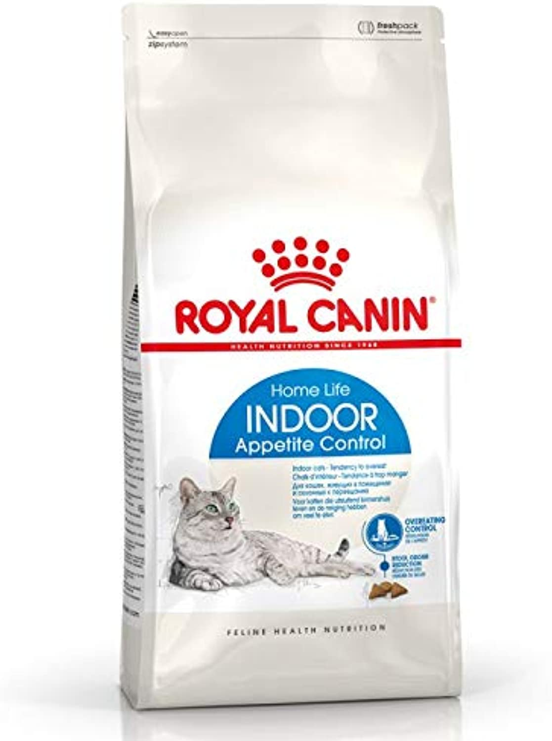 Appetite Control Royal Canin Indoor Complete Dry Cat Food 2x 4 kg, with the Perfect Balance of Predein and Fibre