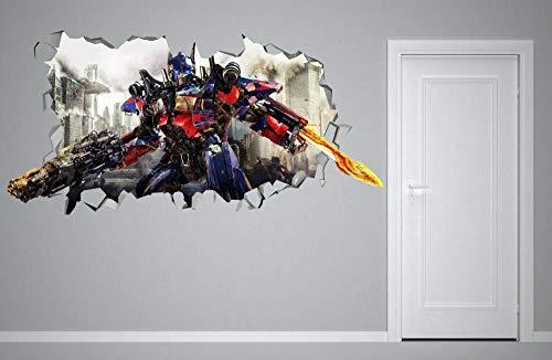 SHUBING Deformado aplastado 3d etiqueta de la pared niños pegatina arte decoración vinilo mural cartel