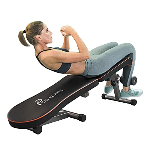 PERLECARE Weight Bench Adjustable, Sit Up Bench for Ab Bench...