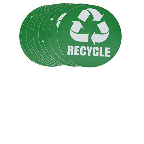 Klistermärke Återvinningsdekal, 18st Miljömärkning Återvinn papperskorgen Dekaler Klistermärken Självhäftande vattentät papperskorgsdekor för att organisera papperskorgen