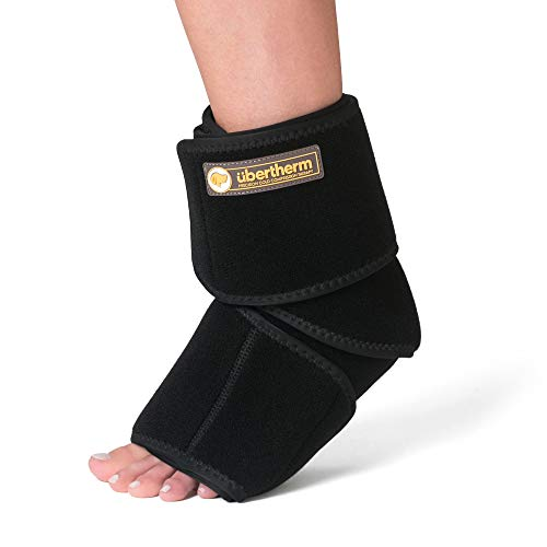 übertherm Foot and Ankle Ice Pack Wrap with Compression. Patented Ice-Pillow for Ice-Burn-Free Pain Relief from Plantar Fasciitis, Achilles Tendonitis, and Sports Injury Pain. 1-Year Warranty.
