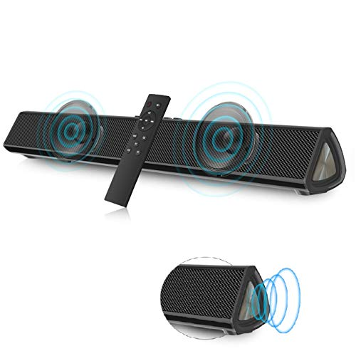 VANZEV Soundbar 2.0 Canali per PC TV, Portatile Altoparlante Hi-Fi Suono Surround 3D, Bluetooth 5.0 Wireless & Cablata Compatibile TV/Cellulare/PC per Casa/Bar, Supporto [Coaxia, AUX, Chiavetta USB]
