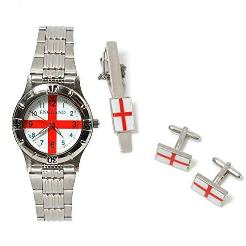 BOXX Set mit England Uhr, Krawattenklammer und Manschettenknöpfen