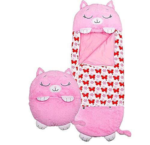 Fazeer Happy Kids Play Almohada Saco De Dormir Almohada para Niños Suave Plegable Saco De Dormir De Animales para Niños Happy Kids Siesta para Navidad