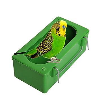 Mangeoire à oiseaux pour perroquet, perruche, calopsitte, conure, cacatoès, aras, inséparables, pinsons, canaris