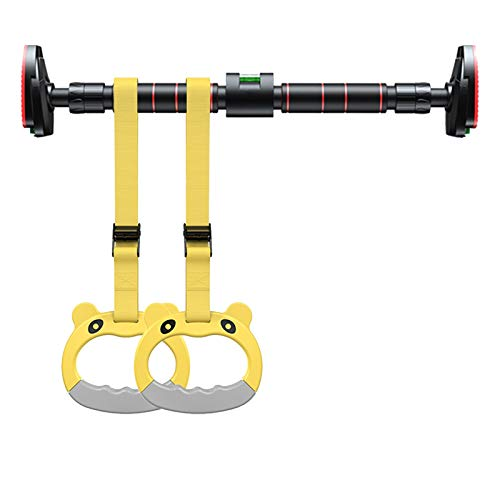Klimmzugstangen Tragbare Pull Up Bar Stange Balken, Türkorridor-Hängende Pull-up-Bar-Ring, mit Balance-Tester, 78-145 cm, Last 250kg (Size : 98-125cm)
