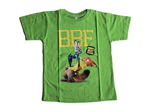 Zoomania Disney T-Shirt (128/134, grün)