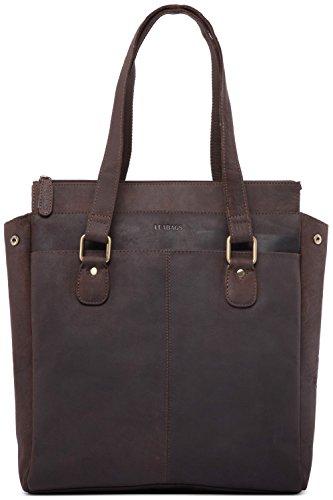 LEABAGS Palmas Handtasche aus echtem Büffel-Leder im Vintage Look - Muskat