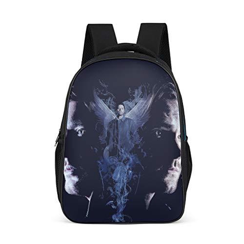 Kleinkind Kinder Schultaschen Supernatural Sam Dean Castiel Kinderrucksack Buch Rucksack Große Backpack Wanderrucksack für Baby Jungen Mädchen Bright Gray OneSize