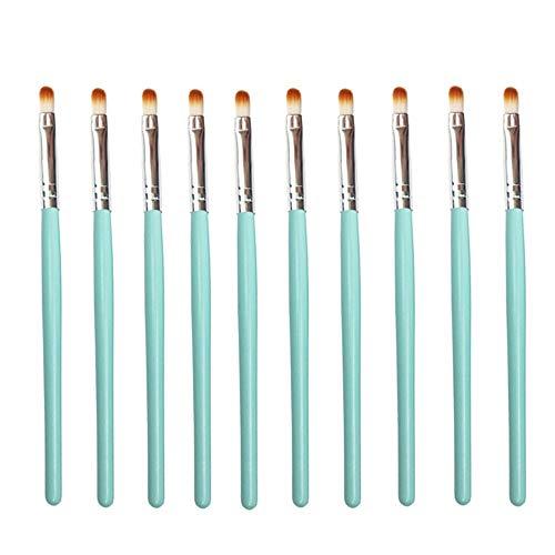 CAIYAN-Beautiful 50pcs pinceaux à lèvres Brillant à lèvres Brillant Baguettes applicateur Maquillage Outils Mode intentionnelle, 5 Sacs en 1 Paquet, 10pcs / Sac (Color : Green Silver)
