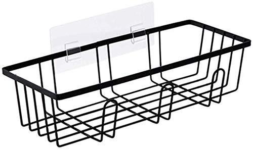 JUNYYANG Almacenamiento Los estantes de baño plataforma de baño, Cambio de la cesta del almacenaje, ducha Organizador con ganchos, cortina de acero, resistente a la humedad 36 * 14.5 * 8.5cm Organizad