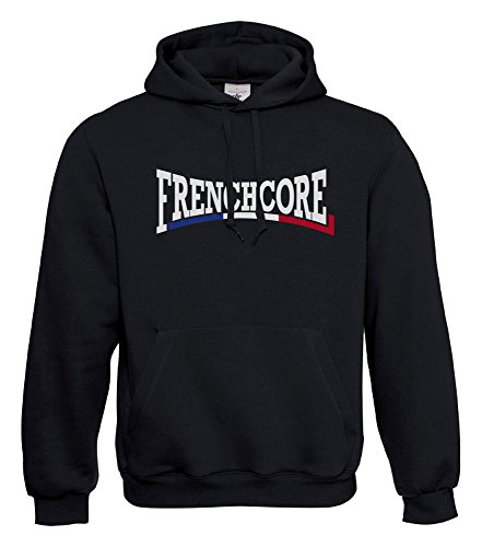 KNOW-MORE-STYLEZ Hooded Sweatshirt FRENCHCORE Connection Flag Kapuzenpulli Pulli Hoodie (M)