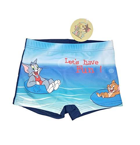 Tom & Jerry Laten we plezier hebben! Zomer zwembroek voor kinderen, jongens Navy 85% polyester 15% elastaan