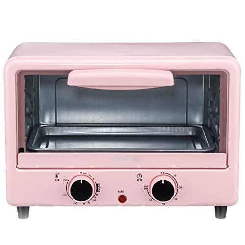 Horno vertical multifunción, 12 L, galvanizado, material rosa 100 – 250 ° 60 minutos, temporizador automático, ideal para pizzas y pan, 110 V (con transformador).