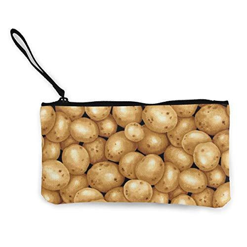 ClownFish Monedero unisex, bolsa de lona, monedero con cremallera, para teléfono celular, monedas, jardín, patatas, bolso portátil