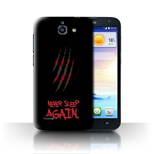Hülle Für Huawei Ascend G730 Grusel Filmkunst Freddy Krueger Inspiriert Kunst Design Transparent Ultra Dünn Klar Hart Schutz Handyhülle Case