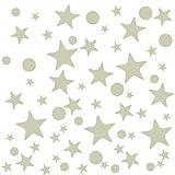 Naler - Adhesivo decorativo para pared, diseño de punto y estrella, multicolor