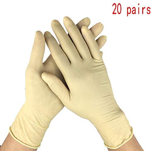Wegwerphandschoenen Van Latex, Antibacterieel, Bestand Tegen Lekke Banden, Poedervrije Handschoenen Voor Workshops Schoonmaakmonteurs(10 STUKS),M