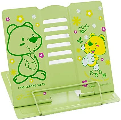 online shopping Book Stand Cartoon Chocolate Bear Reading Adjustable Fashion Met