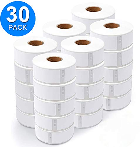 """Biggen Compatible Self-Adhesive Address Labels Replacement for Dymo 30252 1-1/8"""" x 3-1/2"""" for Dymo LabelWriter 400, 450, 450 Duo, Twin, Turbo, 4XL, Strong Adhesion, 350 Labels Per Roll, 30 Rolls"""