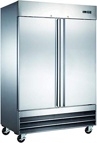 54' Commercial Reach In Stainless Steel Refrigerator CFD-2RR