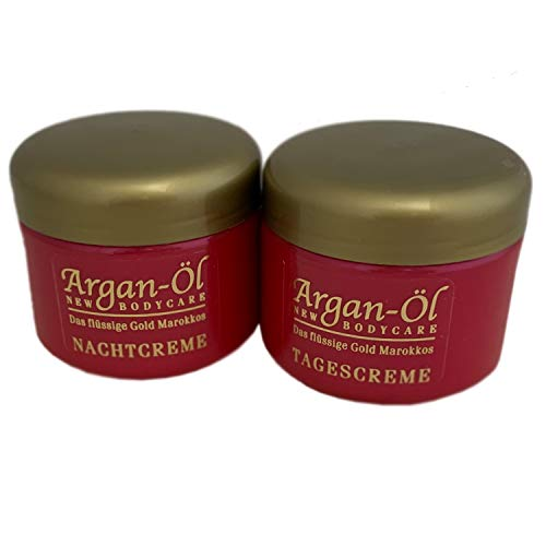 Anti-Aging ARGANÖL Tag & Nacht Gesichtscreme je 125ml | Feuchtigkeitscreme | Gesichtspflege | Feuchtigskeitspflege für trockene Haut - Naturkosmetik Made in Germany