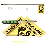 Nikeelando 6 Feet Social Distancing Stick with Sign Flag, Keep 6Ft Distance Ultimate Tool,Portable Retractable Handheld Measure Social Distance Telescopic Pointer Stick, HUTF-SSG, 11Inch/28CM, Green