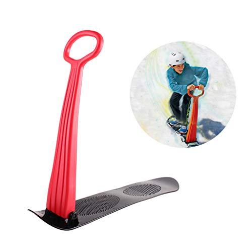 Schneeroller, Ski Schlitten Faltbare Snowboard im Freien Spielzeug,Rot