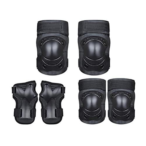 XIONGQI Set di protezioni per pattini per Bambini, 6 in 1 Ginocchiere Gomitiere e polsiere per pattini a rotelle Bici BMX Bike Skateboard Pattinaggio in Linea Riding Sport
