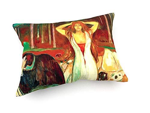 weewado Edvard Munch - Cendres - Tableau 1925-1929 60x40 cm Canapé Coussins - Art, Image, Peinture, Photo - Vieux Maîtres/Musée