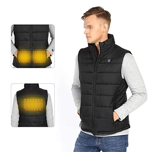 Fashion calefeling Chaleco cálido Lavable al Aire Libre para Acampar Chaleco Chaleco Impermeable USB de Carga Fiebre Chaleco,XL
