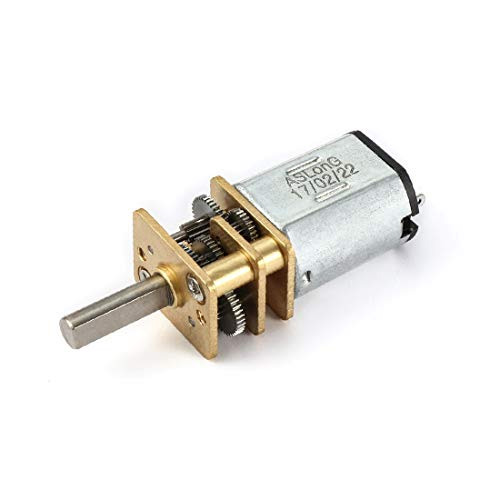 X-DREE Scatola ingranaggi mini motore riduttore di velocità micro 3V 25RPM con 2 terminali per motore di auto RC modello di motore giocattolo fai da te(DC 3V 25RPM Micro Reductor de Velocidad Mini Caj