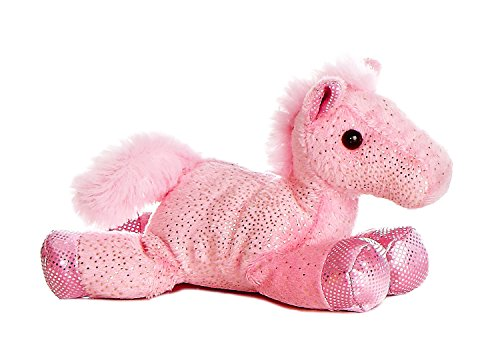 Aurora 7' Mini Flopsie Fantasy Glitter Pony - Pink