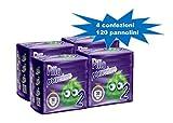 PILLO PREMIUM TAGLIA 2 MINI 3/6 KG CARTONE 4 CONFEZIONI (120 pannolini) …