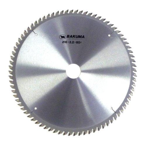 バクマ(BAKUMA) チップソー スライド丸のこ用 216×2.2×80P