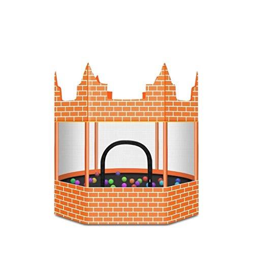 LHQ-HQ Kindertrampolin Schloss Trampolin Haushalt mit Nets for Kinder Erwachsene Fitness Indoor- und Outdoor-Erhöhung Baby-Trampolin Kind, Familie im Freien Springen Bett 1.5m Schloss lädt 500 kg Inne