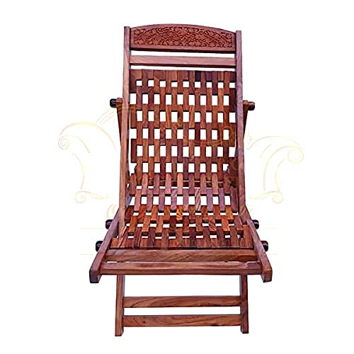 CLASSIC WOOD & CRAFT Rocking Chair in Sheesham Wood with Rosewood Polish and Glossy Finish Rocking Chair Resting Chair Quality Good