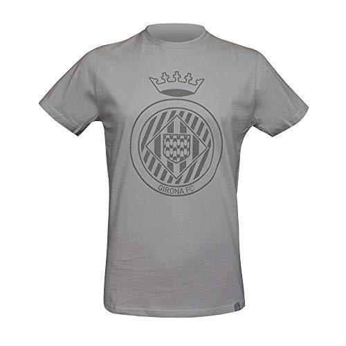 Girona Fc Escudo Camiseta, Unisex Adulto, Gris, S