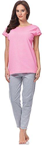 L&L Pijama Mujer LL0091 (Rosa-2, S)