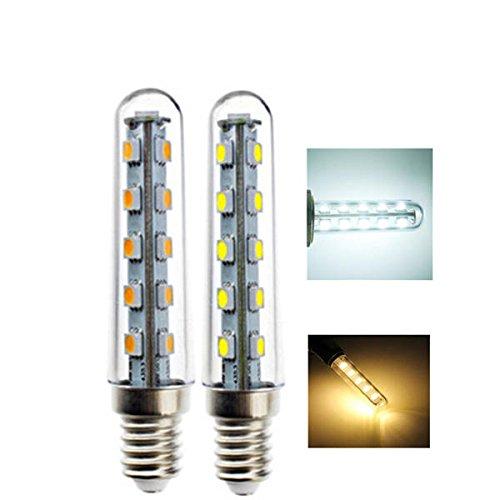 E14 2W SMD5050 16 LEDs blanco cálido blanco puro bombilla de luz para nevera cocina AC220V (color: blanco puro)