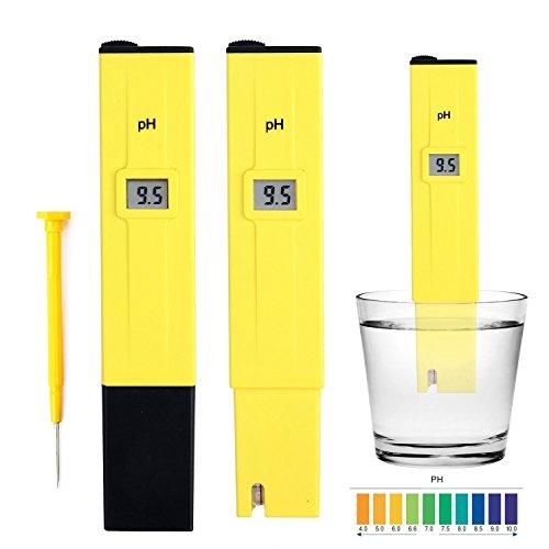 Stylo numérique PH Mètre,Condant Testeur Lecteur type de compteur pH Testeur Aquarium Piscine d'eau hydroponique Laboratoire,Testeur pH Numérique Portable,Jaune