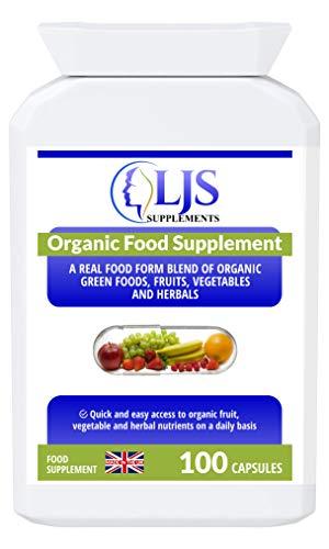 LJS Supplements Organic Food Supplement - Organic Nourishment - Detoxification - Recovery - Hormonal Balance - Healthy Metabolism - Vegan Nutrition - Made in UK.