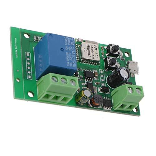 Accesorios industriales Control WiFi Interruptor inalámbrico 12V Pulgada Módulo de relé de Bloqueo automático Temporizador de Control Remoto para automatización doméstica Inteligente