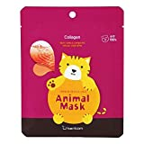 Berrisom Animal Face Sheet Mask | Cat | Moisturizing & Firming with marine collagen | 25ml | K-beauty