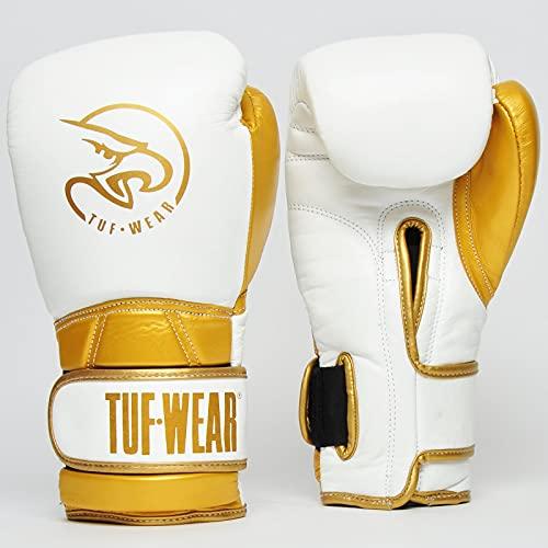 Tuf Wear Creed Leder Boxhandschuhe Weiss...