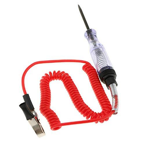 Sunwan, tester per circuiti elettrici per auto, con sonda a LED e clip a coccodrillo, 6 V/12 V/24 V, per auto