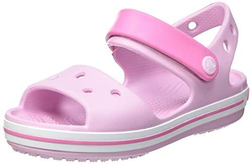 Crocs Crocband Kids, Sandali con Cinturino alla Caviglia, Ballerina Pink, 24/25 EU
