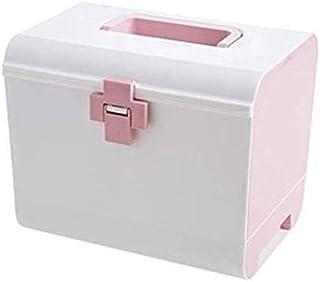 AINIYF Plastic Multi-Layer Medicine Box Family Large First-aid Box Medicine Box Large-Capacity Medicine Storage Box Portable Medicine Box (Color : Pink)