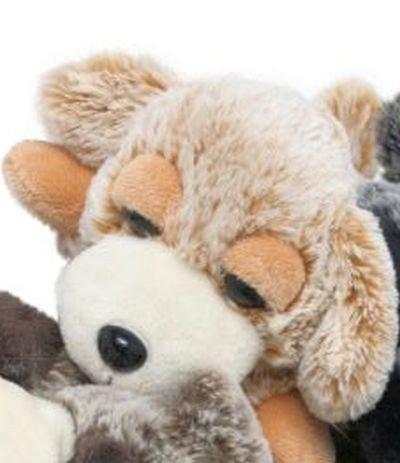 Anhänger Plüschhund Kuscheltier Haustier Flauschi braun meliert